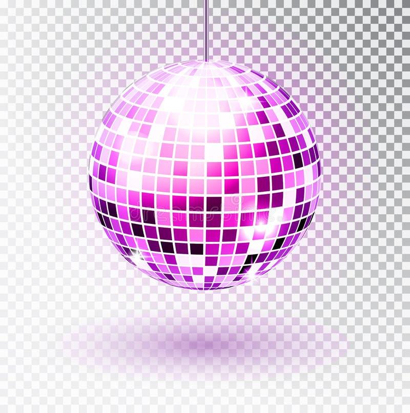 球迪斯科绿色对象橙红向量黄色 也corel凹道例证向量 查出 夜总会党光元素 迪斯科舞蹈的明亮的镜子球设计 向量例证