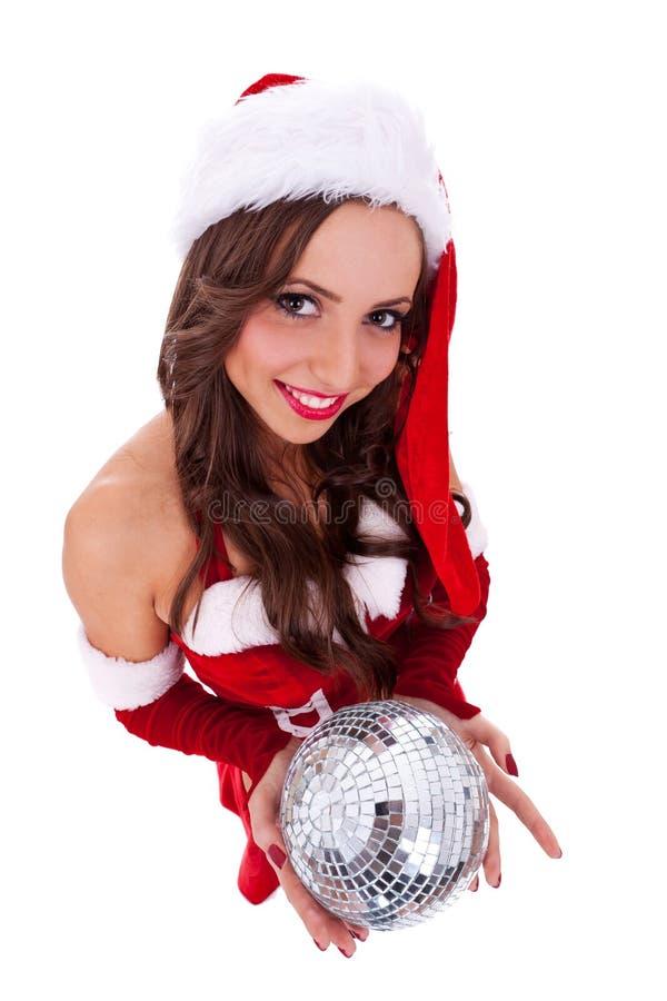 球迪斯科藏品性感的圣诞老人 免版税库存图片