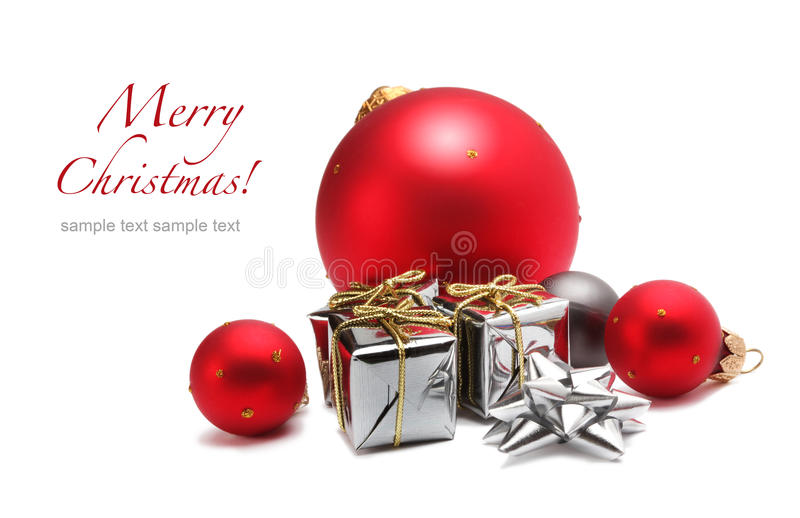 球配件箱圣诞节礼品 图库摄影