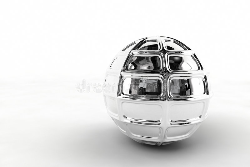 球镀铬物银 免版税库存照片