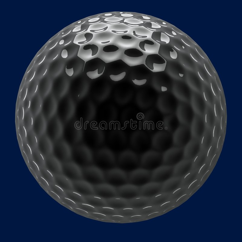 球镀铬物高尔夫球 库存图片