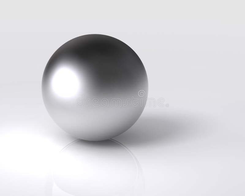 球镀铬物 库存例证