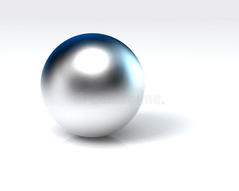 球镀铬物 免版税库存照片