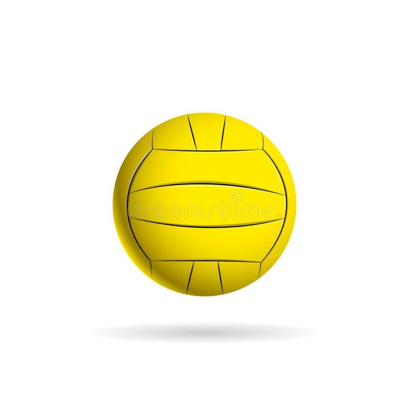 水球队和杯子的球商标 库存例证