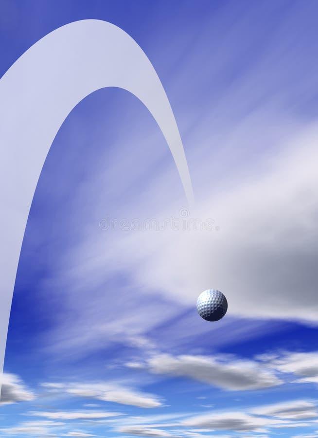 球飞行高尔夫球 皇族释放例证
