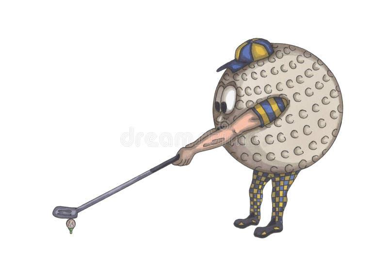 球高尔夫球人 免版税库存照片