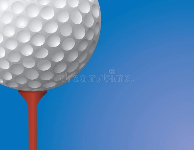 球高尔夫球例证发球区域 向量例证
