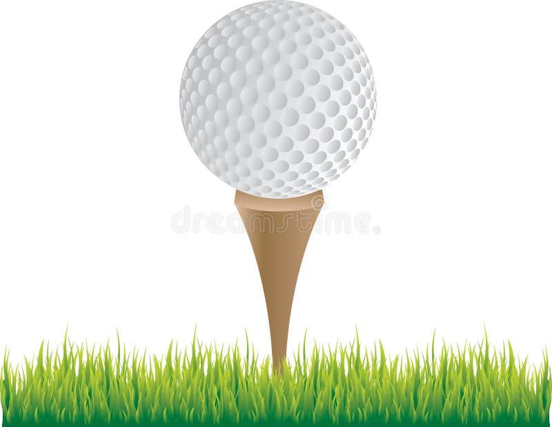 球高尔夫球发球区域 库存例证