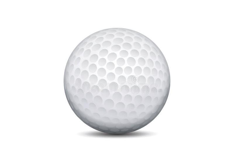球高尔夫球向量 库存例证