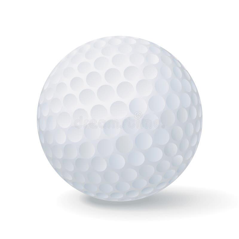 球高尔夫球向量 向量例证
