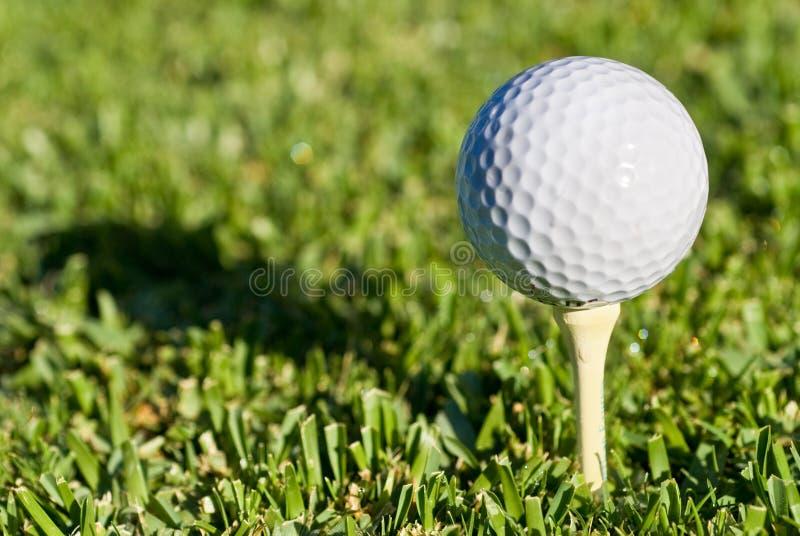 球高尔夫球影子 库存图片