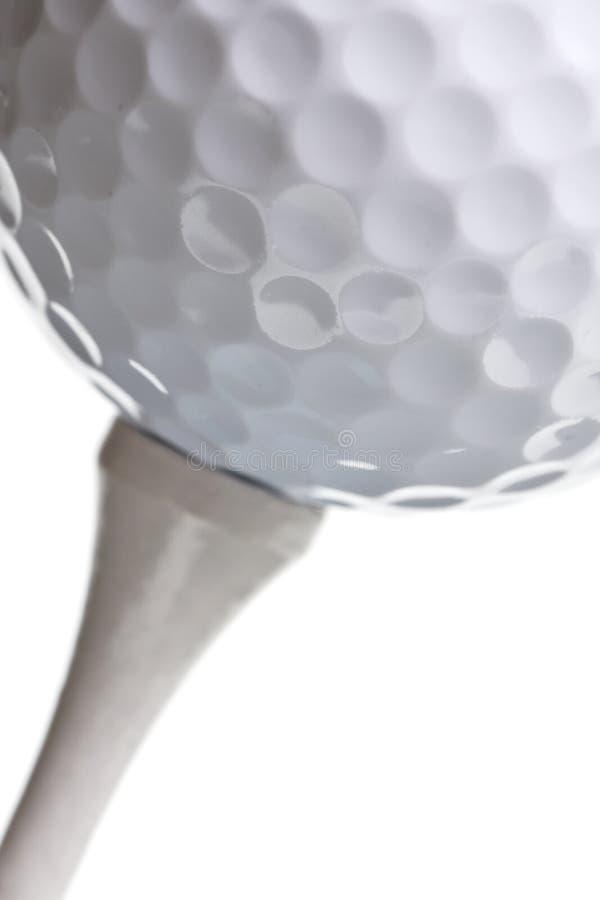 球高尔夫球查出的发球区域白色 图库摄影