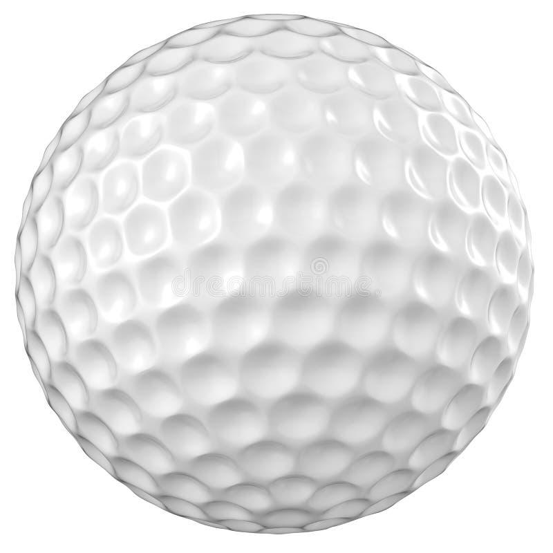 球高尔夫球查出的白色 库存照片