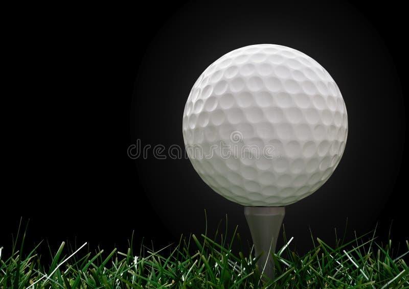 球高尔夫球草发球区域 库存图片