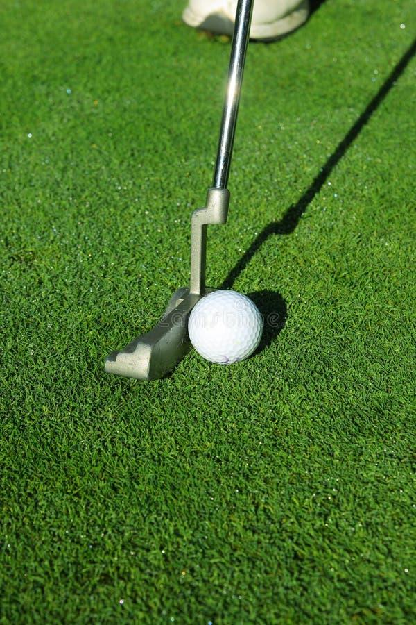 球高尔夫球轻击棒 免版税库存照片