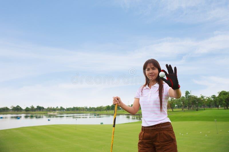 球高尔夫球高尔夫球运动员显示 免版税图库摄影
