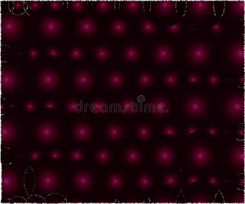 球黑暗的粉色  向量例证