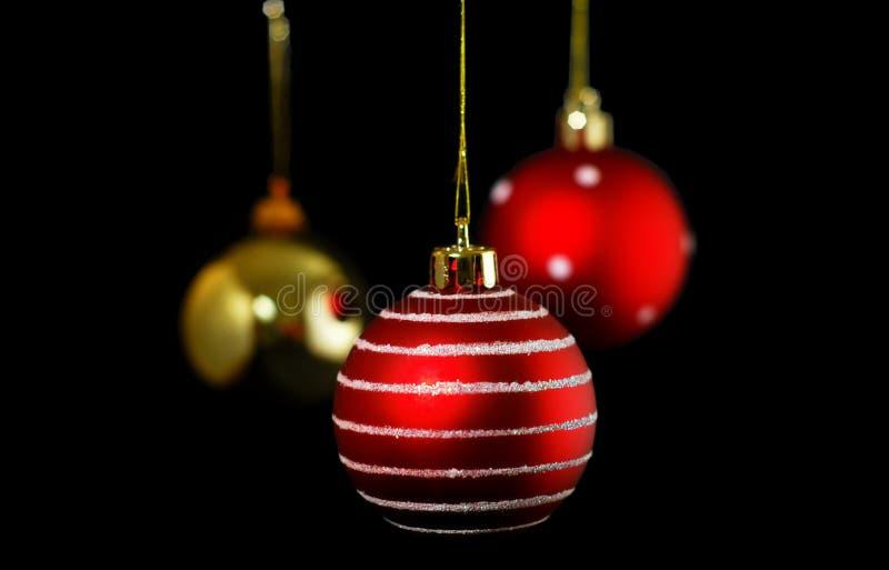 球黑色圣诞节 免版税图库摄影