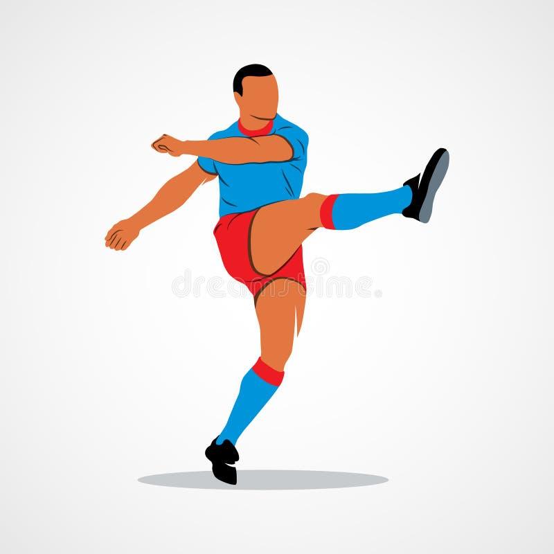 球,足球,球员 向量例证