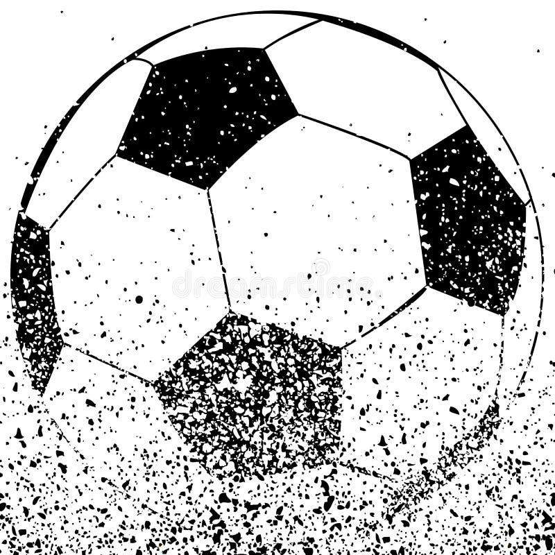 球黑色足球白色 库存例证