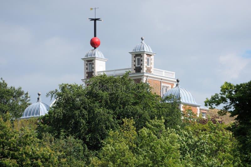 球flamsteed格林威治房子伦敦时间 免版税库存图片