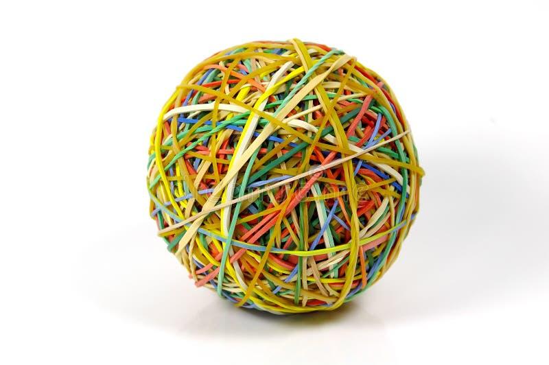 球rubberband 免版税库存图片