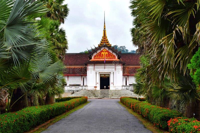 琅勃拉邦国家博物馆复合体的王宫山楂西康省  图库摄影