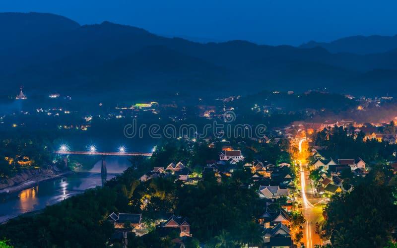 琅勃拉邦顶视图  免版税图库摄影