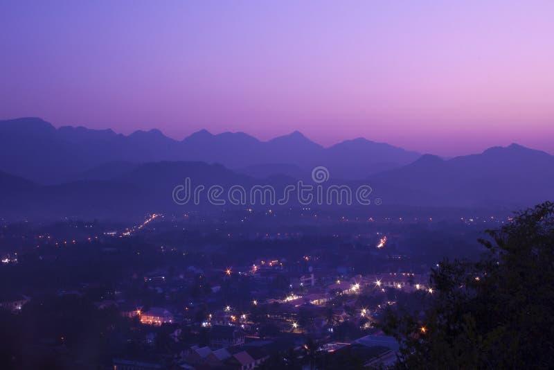 琅勃拉邦,老挝顶视图  库存照片