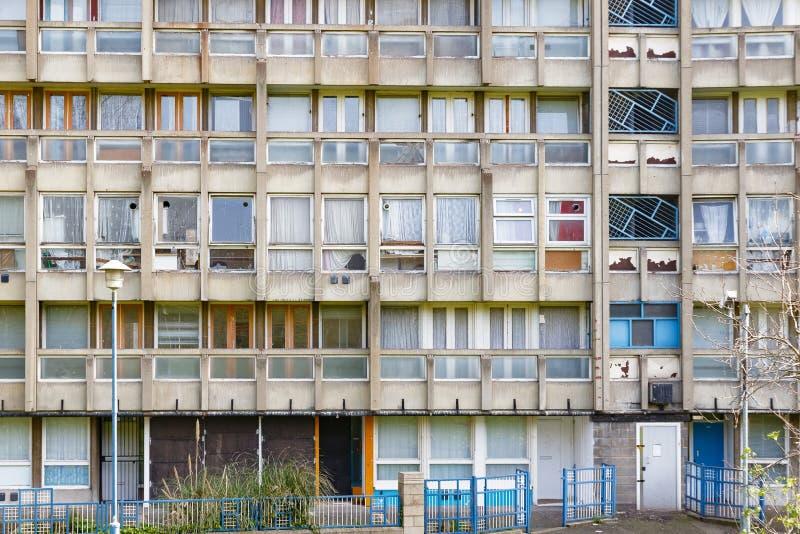 理事会公寓住房块在东伦敦 免版税图库摄影