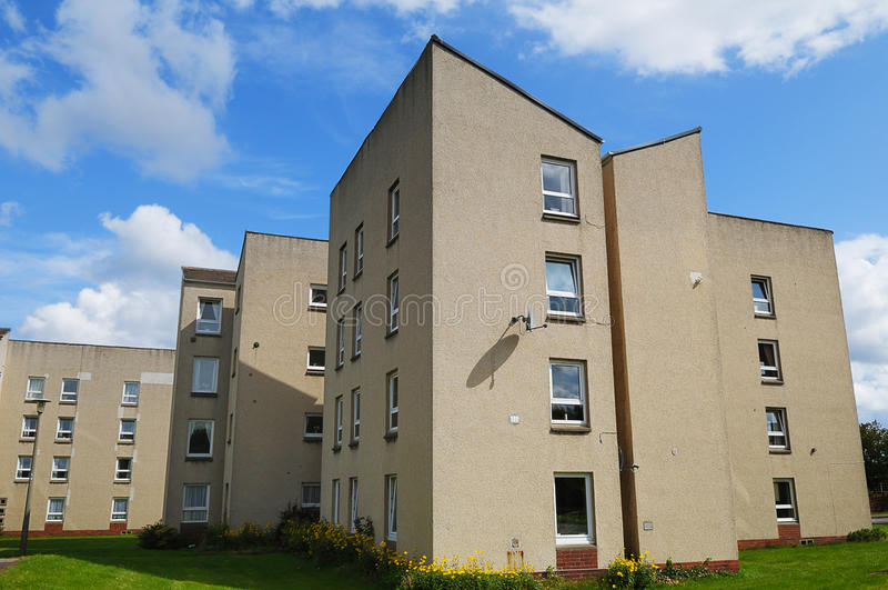 理事会公寓房子英国 图库摄影