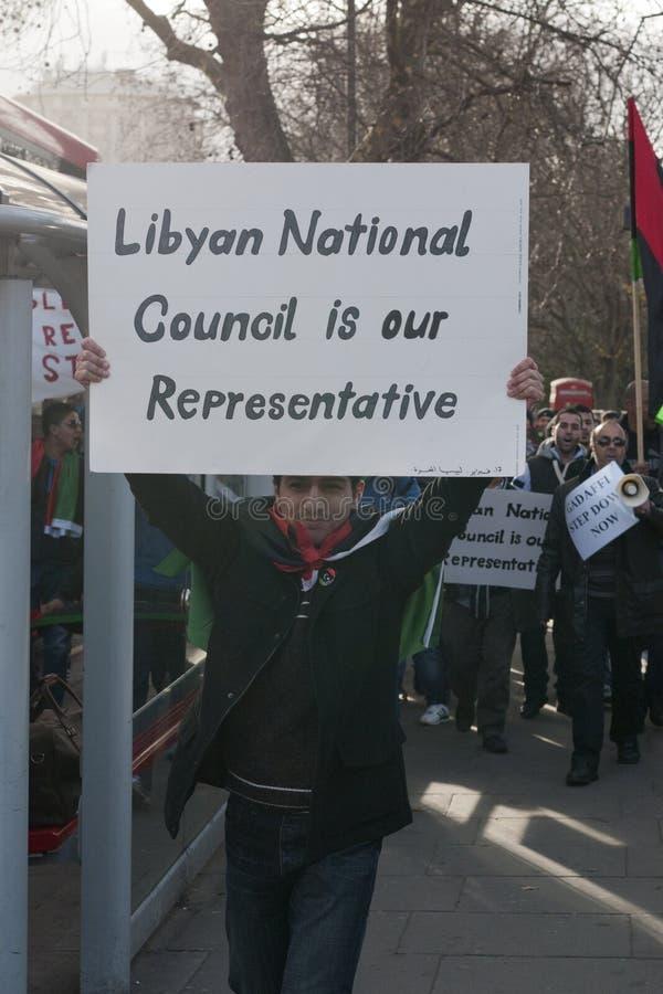 理事会利比亚国民我们的代表 库存照片