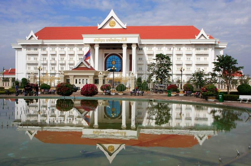 总理办公室大厦,万象,老挝 免版税库存照片