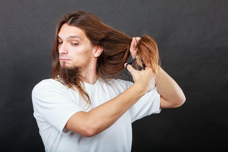 理发师切口头发 免版税库存图片
