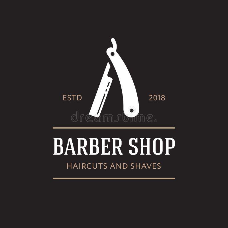 理发师商标拷贝 向量例证