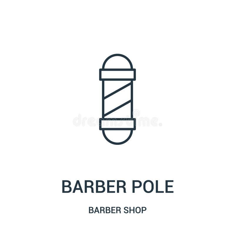 理发师杆从理发店汇集的象传染媒介 稀薄的线理发师杆概述象传染媒介例证 库存例证