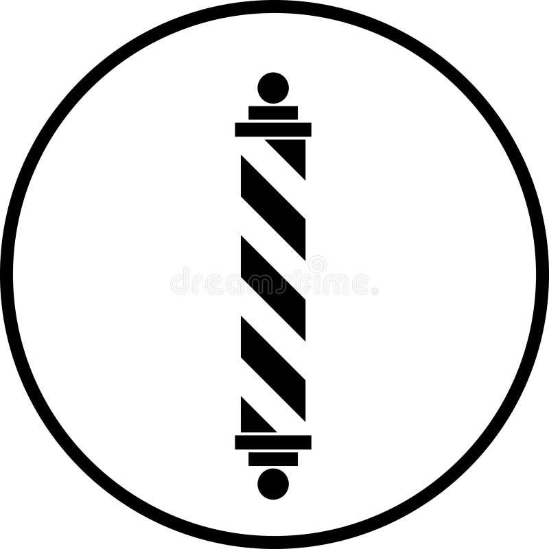理发师杆符号 库存例证