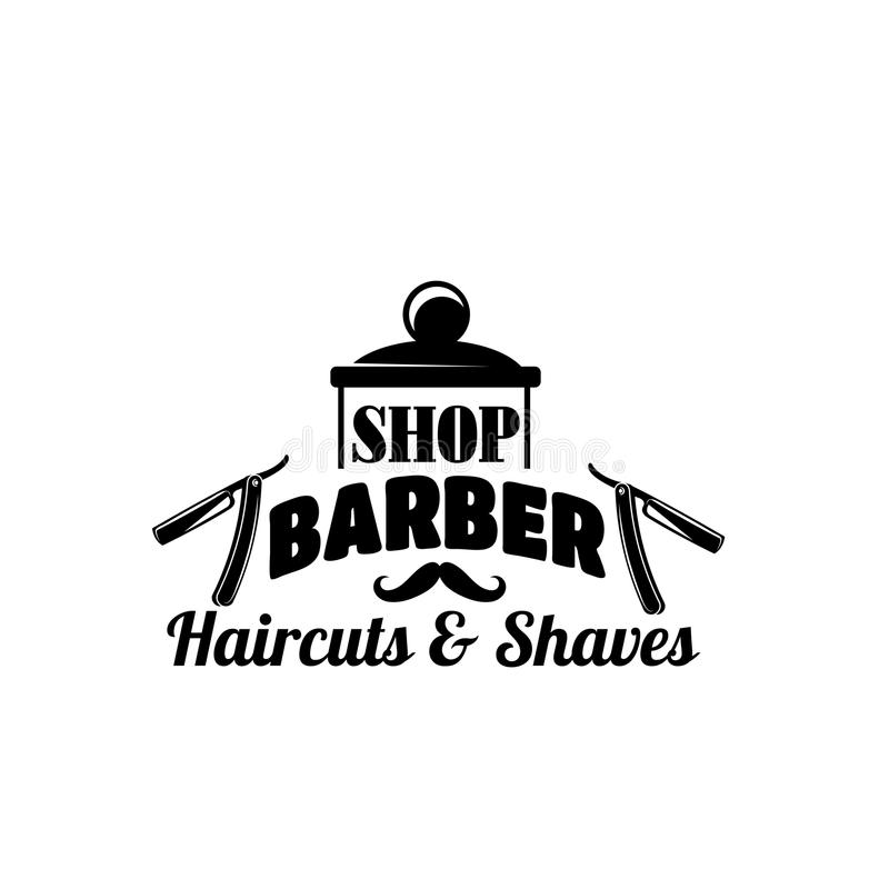 理发店传染媒介髭和剃刀传染媒介象 向量例证