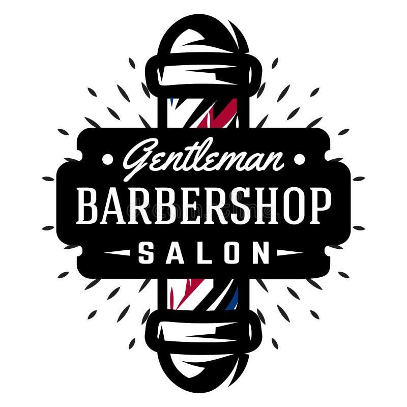 理发店的商标有理发师杆的 皇族释放例证