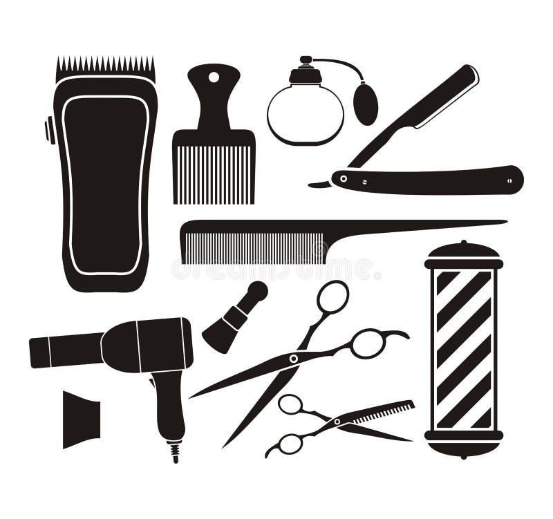 理发店设备-图表 向量例证