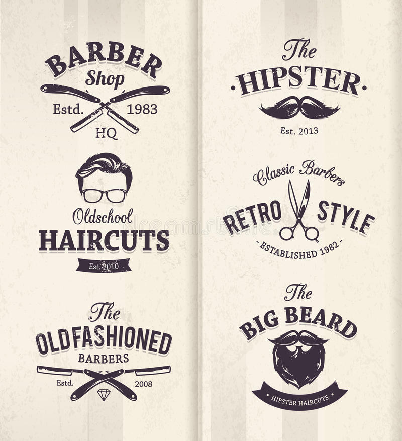 理发店象征 向量例证