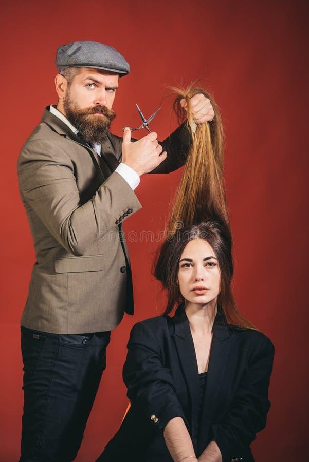 理发店 理发店设计 理发师剪刀 免版税图库摄影