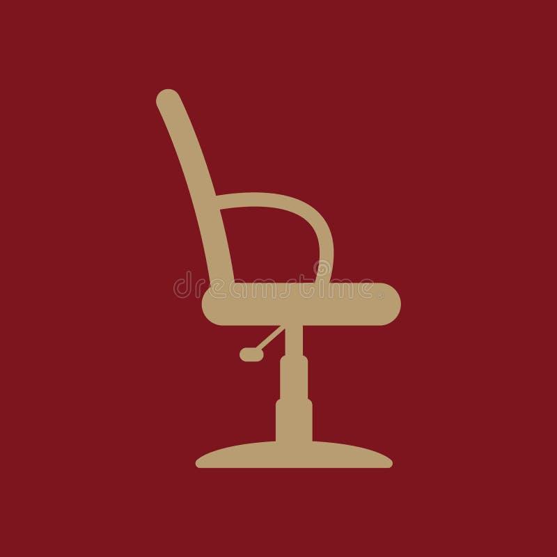 理发椅象 扶手椅子标志 平面 库存例证