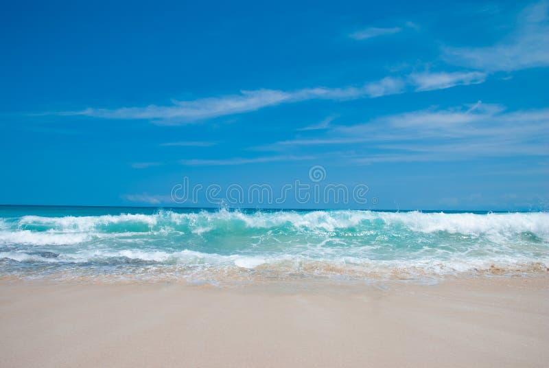 理想国海滩在巴厘岛 免版税图库摄影