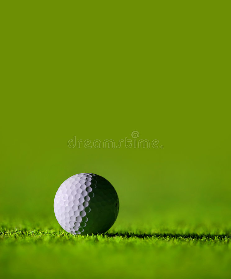 理想球的高尔夫球 免版税库存图片