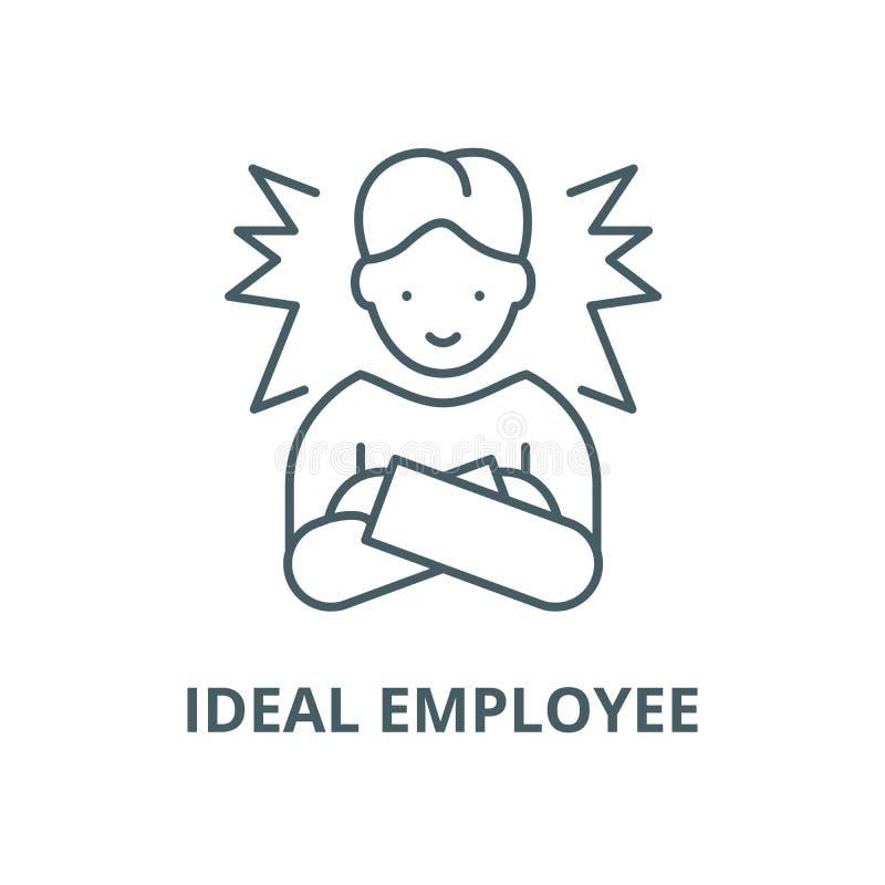理想的雇员传染媒介线象,线性概念,概述标志,标志 库存例证