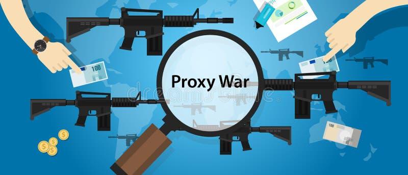 代理战争胳膊冲突世界国际争执货币业务递控制 库存例证