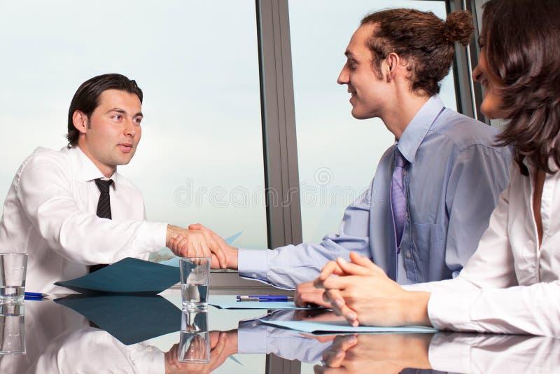 经理握手 免版税库存图片