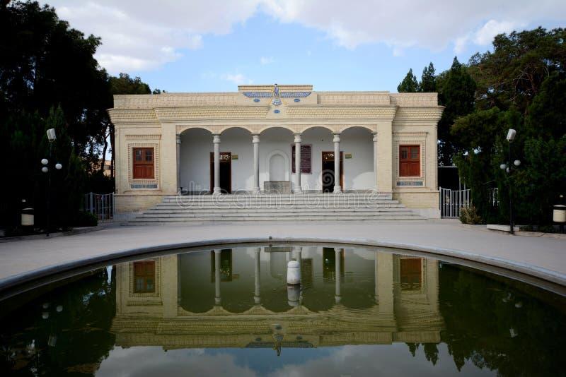琐罗亚斯德教的火寺庙在亚兹德,伊朗 库存照片