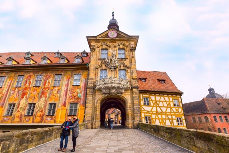 琥珀历史城市街道视图在德国 库存图片
